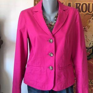 Hot pink L.L. Bean blazer